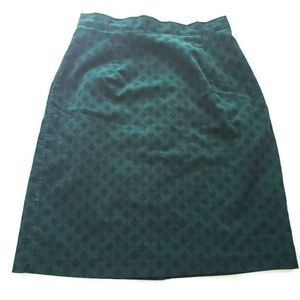 Laura Ashley Green Corduroy A Line Skirt Size 8